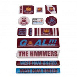 Samolepky plastické 13ks West Ham United FC