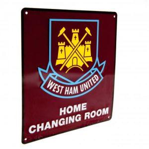 Plechová cedulka West Ham United FC šatna