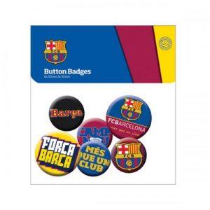 Sada 6 placek Barcelona FC (typ 15)