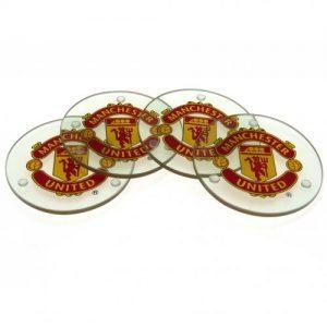 Skleněné podtácky Manchester United FC (typ RD)