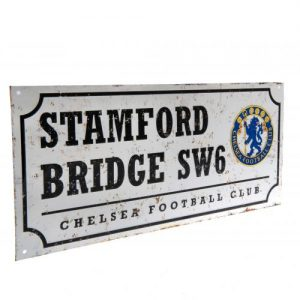 Plechová cedulka Chelsea FC ulice retro