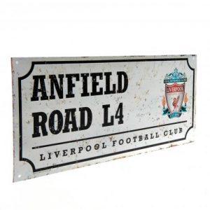Plechová cedulka Liverpool FC ulice retro