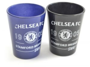 Sada 2ks skleniček panáků Chelsea FC (typ 18)