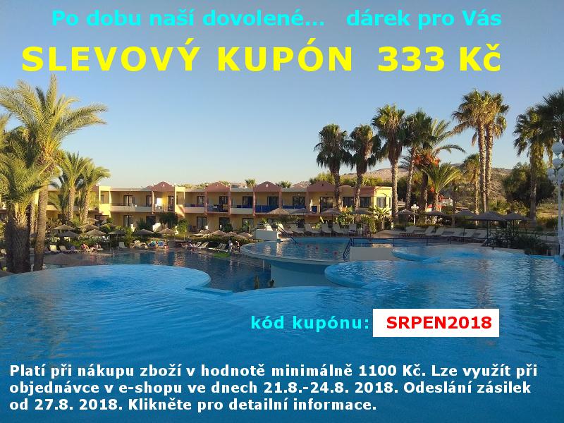 Slevový kupón ve dnech 21. - 24. 8. 2018