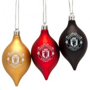 Vánoční ozdoba 3ks Manchester United FC (typ 20)